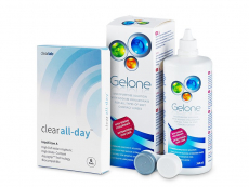 Clear All-Day (6 linser) + Gelone linsvätska 360 ml