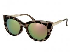 Alensa solglasögon Kattiga Havana Pink Spegel
