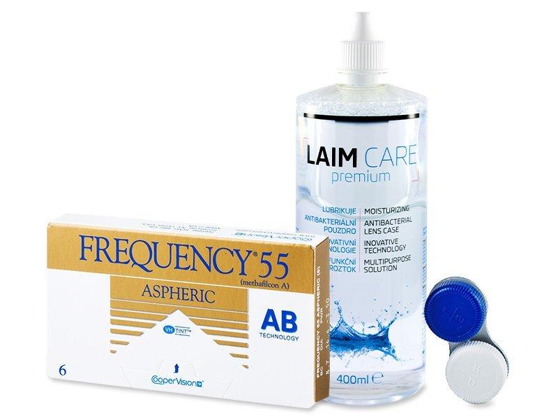Frequency 55 Aspheric (6linser) +Laim-Carelinsvätska 400 ml