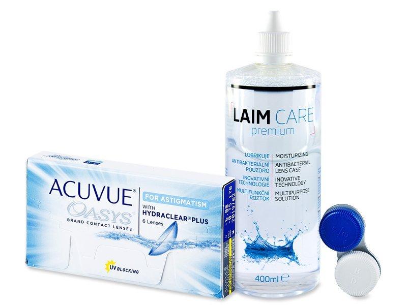 Acuvue Oasys for Astigmatism (6linser) +Laim-Carelinsvätska 400ml