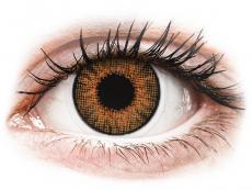 Bruna Honey linser - naturlig effekt - med styrka - Air Optix (2linser)