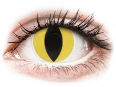 Gula Cat Eye linser - ColourVUE Crazy (2 linser)