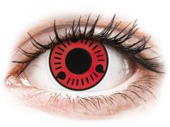 Röda Sasuke kontaktlinser - ColourVUE Crazy (2 linser)