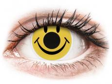 Gula Smiley kontaktlinser - ColourVUE Crazy (2 linser)