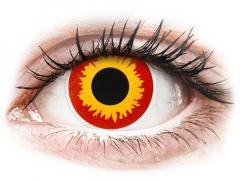 Röda och Gula Wildfire linser - ColourVUE Crazy (2 linser)
