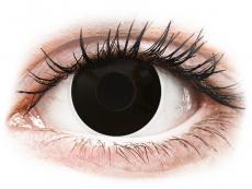 Svarta Blackout kontaktlinser - med styrka - ColourVUE Crazy (2 linser)