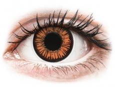 Orange Twilight kontaktlinser - med styrka - ColourVUE Crazy (2 linser)