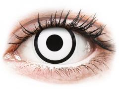 Vita Zombie kontaktlinser - med styrka - ColourVUE Crazy (2 linser)