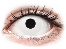 Vita WhiteOut kontaktlinser - med styrka - ColourVUE Crazy (2 linser)