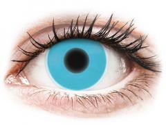 Blåa Glow kontaktlinser - ColourVUE Crazy (2linser)