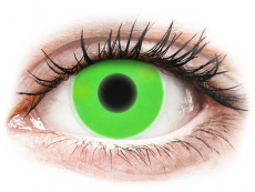 Gröna Glow kontaktlinser - ColourVUE Crazy (2linser)