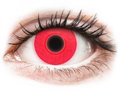 Röda Glow kontaktlinser - ColourVUE Crazy (2linser)