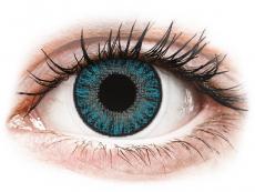 Blåa kontaktlinser - med styrka - TopVue Color (10linser)