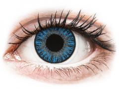 Blåa Sapphire linser - med styrka - TopVue Color (10linser)