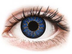 Blå Glamour kontaktlinser - med styrka - ColourVUE (2linser)