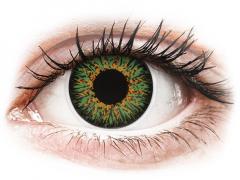 Gröna Glamour linser - med styrka - ColourVUE (2linser)
