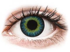 Gul Blåa Fusion linser - med styrka - ColourVUE (2linser)