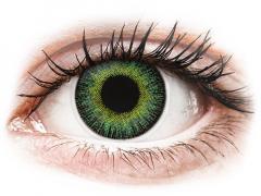 Grön Gula Fusion linser - med styrka - ColourVUE (2linser)