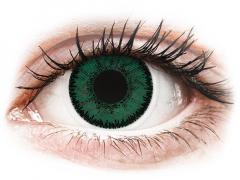 Gröna Amazon linser - SofLens Natural Colors - med styrka (2 linser)