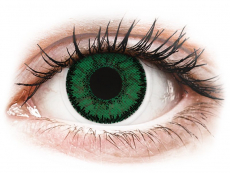 Gröna Emerald linser - SofLens Natural Colors - med styrka (2 linser)