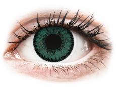 Gröna Jade linser - SofLens Natural Colors - med styrka (2 linser)