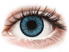 Blåa Pacific linser - SofLens Natural Colors - med styrka (2 linser)