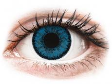 Blåa Topaz linser - SofLens Natural Colors - med styrka (2 linser)