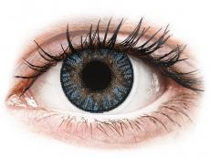 Blåa linser - FreshLook ColorBlends - Med styrka (2 linser)