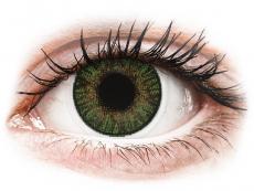 Gröna Gemstone linser - FreshLook ColorBlends - Med styrka (2 linser)