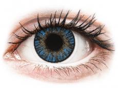 Blåa True Sapphire linser - FreshLook ColorBlends - Med styrka (2 linser)