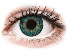 Turkosa kontaktlinser - FreshLook ColorBlends - Med styrka (2 linser)