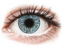 Blåa kontaktlinser - FreshLook Colors - Med styrka (2 linser)