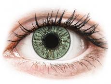 Gröna kontaktlinser - FreshLook Colors - Med styrka (2 linser)