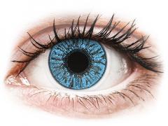 Blåa Sapphire linser - FreshLook Colors - Med styrka (2 linser)