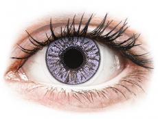 Lila kontaktlinser - FreshLook Colors - Med styrka (2 linser)
