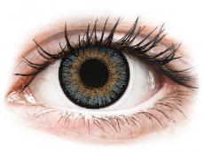 Blåa kontaktlinser - FreshLook One Day Color - Med styrka (10 linser)