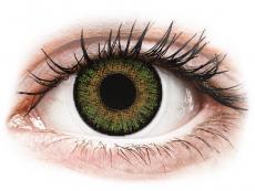 Gröna kontaktlinser - FreshLook One Day Color - Med styrka (10 linser)