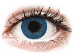 Blåa Pacific linser - FreshLook Dimensions - Med styrka (6 linser)