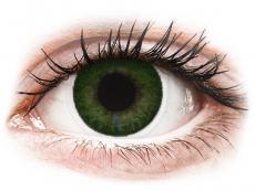 Gröna Sea linser - FreshLook Dimensions - Med styrka (6 linser)