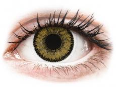 Mörkbruna Hazel linser - SofLens Natural Colors - med styrka (2 linser)