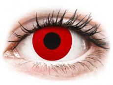 Röda Devil engångs kontaktlinser - ColourVUE Crazy (2 linser)