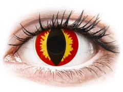 Röda och Gula Dragon linser - ColourVUE Crazy (2 linser)