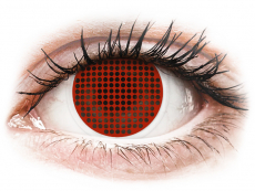 ColourVUE Crazy Lens - Red Screen - utan styrka (2linser)