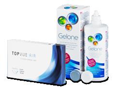 TopVue Air (6 linser) + Gelone Linsvätska 360 ml