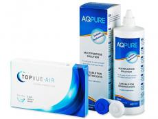 TopVue Air (6 linser) + AQ Pure linsvätska 360 ml