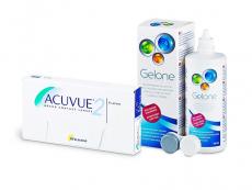 Acuvue 2 (6 linser) + Gelone linsvätska 360 ml