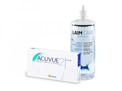 Acuvue 2 (6 linser) + Laim-Care linsvätska 400 ml