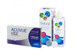 Acuvue Vita (6 linser) + Gelone linsvätska 360 ml