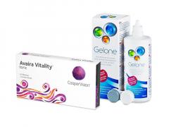 Avaira Vitality Toric (3 linser) + Gelone linsvätska 360 ml