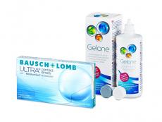 Bausch + Lomb ULTRA (3 linser) + Gelone linsvätska 360 ml